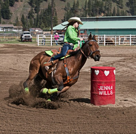 Barrel Racing - Princeton Rodeo - ©Derek Chambers