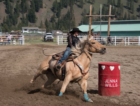 Barrel Racing - Princeton Rodeo - ©Derek Chambers