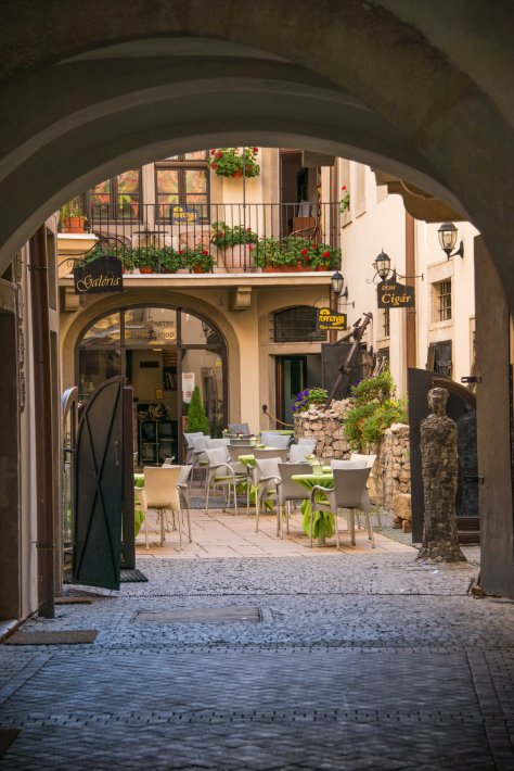 Bratislava - Appealing Courtyard off Main Shopping Street - ©Derek Chambers