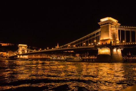 Budapest - Chain Bridge at Night - ©Derek Chambers