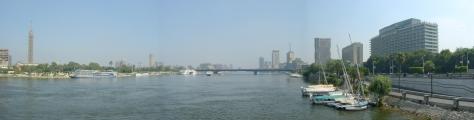 Cairo - Pan from Kasr Al Nile Bridge - North - ©Derek Chambers