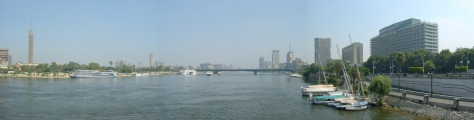 Cairo - Pan from Kasr Al Nile Bridge - North - ©Derek Chambers