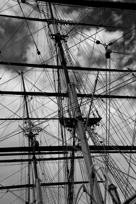 Masts - Cutty Sark - Greenwich UK