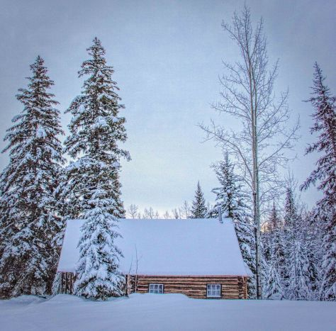 Old Cabin in Winter, False HDR - ©Derek Chambers