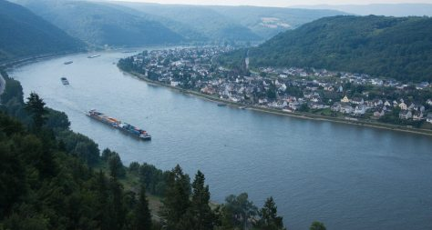 Rhine River and Spay from Marksburg Castle - ©Derek Chambers