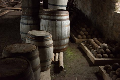 Gunpowder Barrels and Canon Balls - Fortress at Louisbourg - Cape Breton - Nova Scotia - ©Derek Chambers