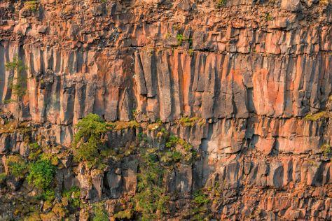 Rock Face of Basalt Columns - Spahats Falls - ©Derek Chambers