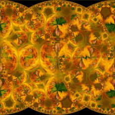 Hyperbolic Tiling 1-1081 on BlackLighten- ©Derek Chambers