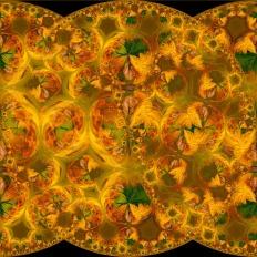Hyperbolic Tiling 1-1081 on BlackLighten- ©Derek Chambers