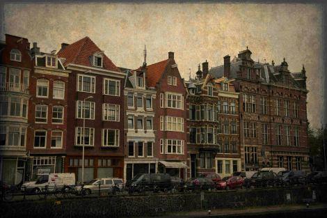 Amsterdam Canalside Houses - ©Derek Chambers