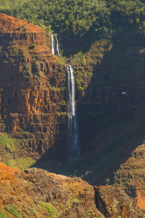 Waimea Canyon Waterfall with Sightseeing Helicopter _DSC5191- ©Derek Chambers