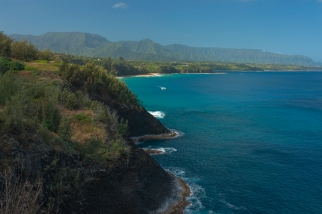 Secret Beach from Kilauea Lighthouse - ©Derek Chambers