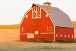 Red Barn Alight - Palouse - ©Derek Chambers