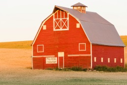 Red Barn Alight - Palouse - ©Derek Chambers