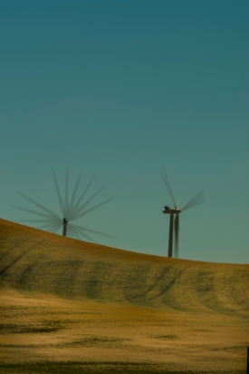 Wind Generators - Multiple Exposure - ©Derek Chambers
