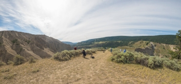 Photographers Amidst Bunch Grass and Sage Bushes - ©Derek Chambers
