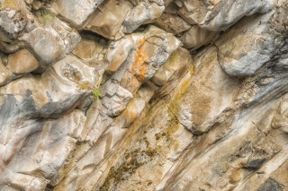 Rock Face Detail, Siffleur River Canyon, Kootenay Plains - ©Derek Chambers