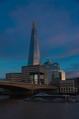 The Shard in the Evening Behind #1 London Bridge - ©Derek Chambers