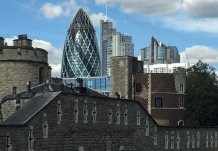The Old and the New - Tower of London, the Gherkin and Heron Tower - ©Derek Chambers