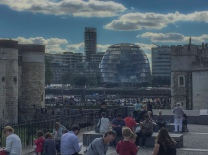 Tourists Everywhere - At The Tower of London, Mayor's Office Across the River - ©Derek Chambers