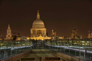 St Paul's and the Millennium Bridge - ©Derek Chambers