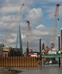The Shard - Framed By Cranes - ©Derek Chambers