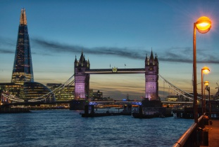 Tower Bridge and The Shard - ©Derek Chambers